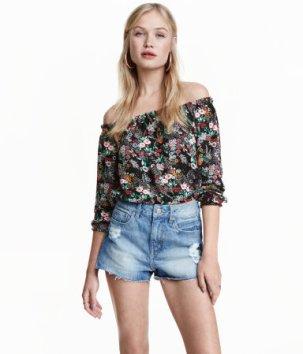 blouse fleurs H&M