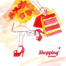 shopping fille
