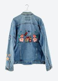 Article broderies veste en jean