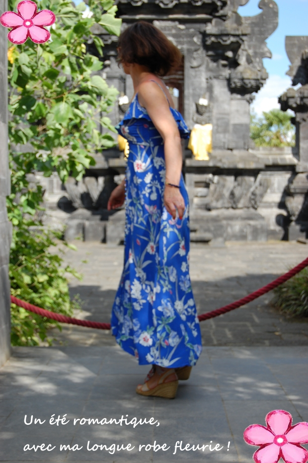 photo robe longue fleurs