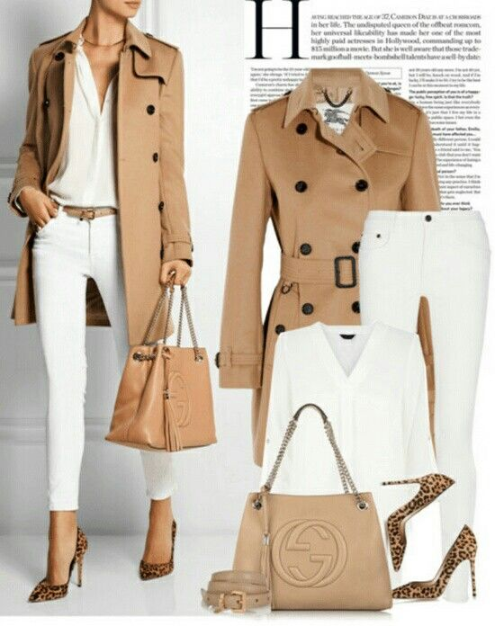 Article trench working girl