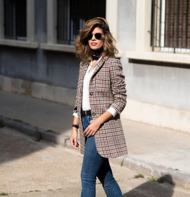 Article carreaux blazer