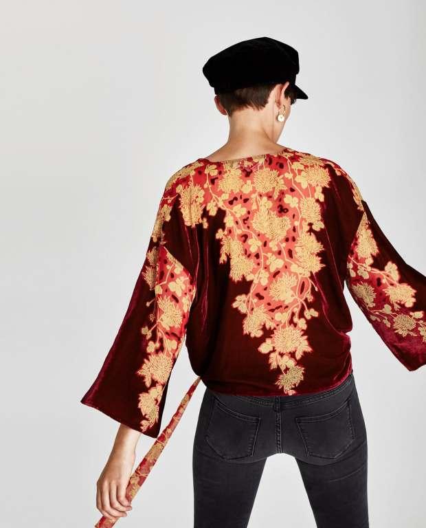 Article velours kimono zara