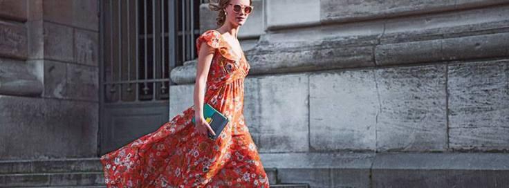 Article bonjour le printemps robe fleurie