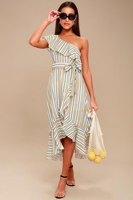 Article rayures robe longue Lulus