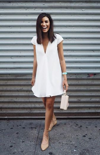 Article robe blanche casual chic