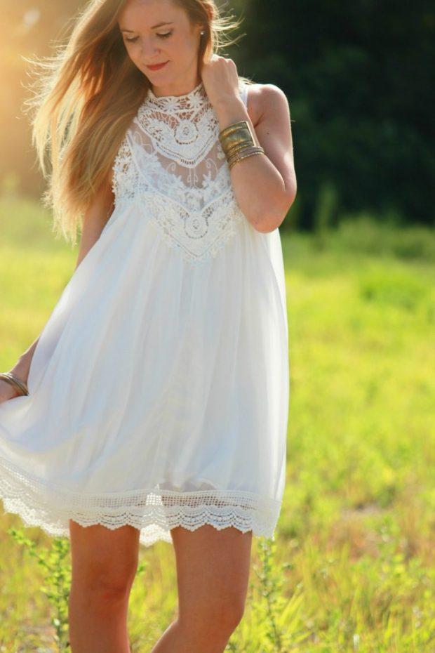 Article robe blanche style bohème