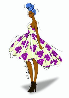 Article ma petite robe en wax photo 6