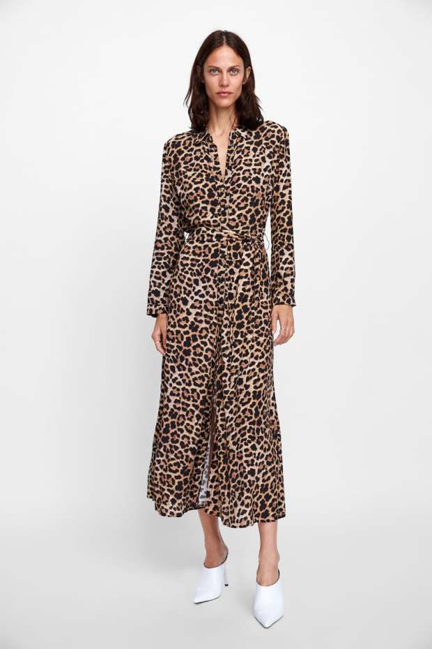 Article robe longue photo zara animale