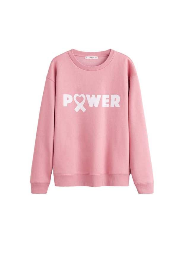 Article rose poudré Swear shirt mango