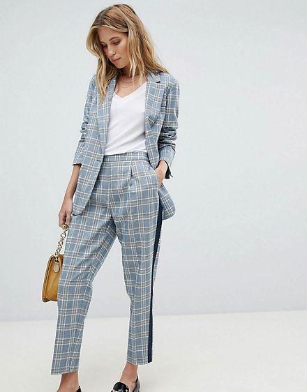 Article jupe taille haute à carreaux femme photo 6
