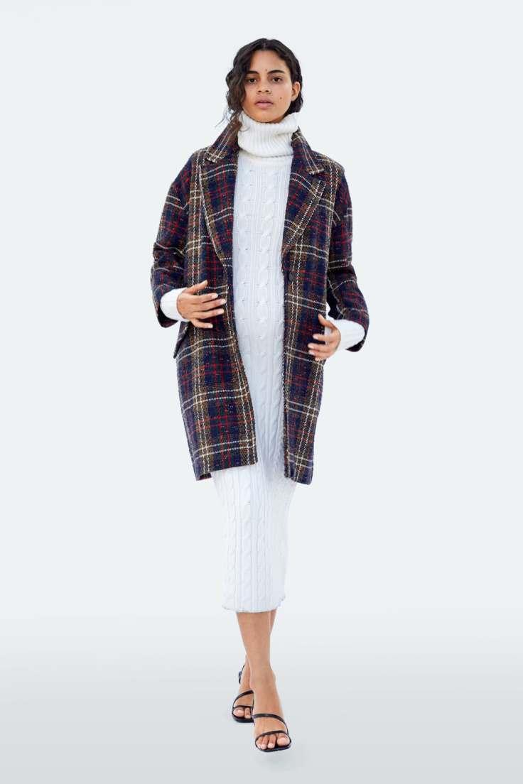 Article jupe taille haute à carreaux photo 3