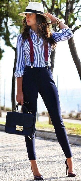 Slim et chemise à rayures