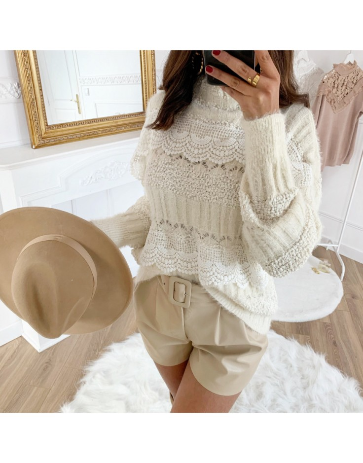 pull-doudou-broderie-white Mademoiselle Chic